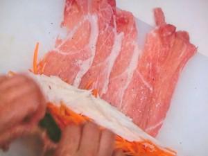 野菜の肉巻きフライ