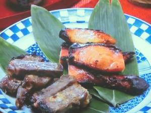 牛肉の味噌漬け・鮭の味噌漬け