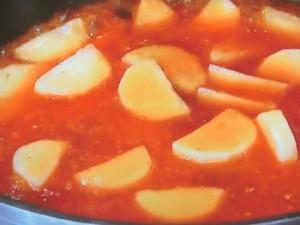 長芋とえびのチリソース炒め