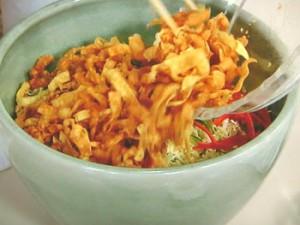 帆立てと白菜のしょうがスープがけ