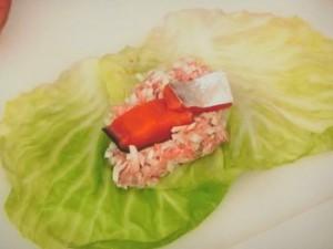 塩鮭のロールキャベツ