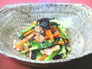 小松菜と豚肉ののり風味