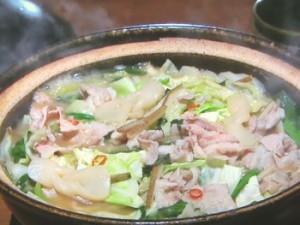 豚バラ肉のしょうがみそ鍋