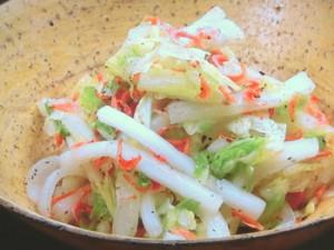 白菜と桜えびのさっぱりサラダ