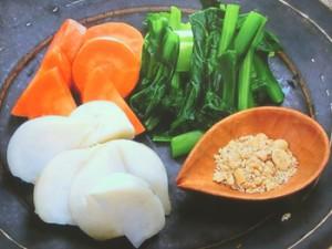 温野菜のピーナツごま塩ぞえ