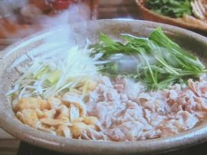 水菜と豚肉のハリハリ鍋