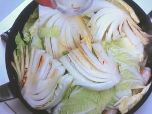 白菜と手羽先のピリ辛煮