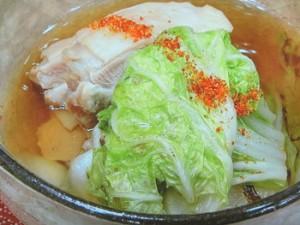 白菜と鶏モモ肉のスープ煮