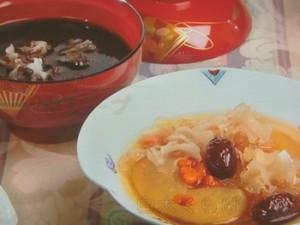 白木くらげ、なつめ、クコの実のスープ&2色木くらげの甘いスープ