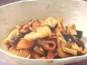 干し野菜の煮物