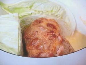 豚肉とキャベツのマスタード煮