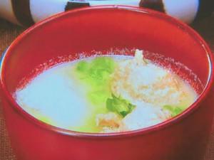 鶏団子の白みそ汁