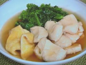 菜の花と鶏むねのサッと煮