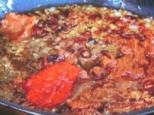 豚しゃぶとセリのピリ辛麺
