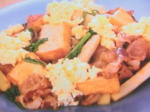 牛肉とウドのすき焼き炒め