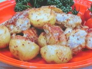 鶏肉と新ジャガのマスタードマヨネーズ炒め