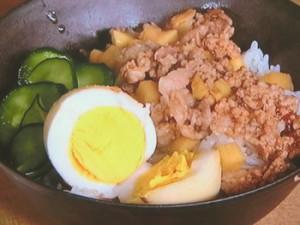 春野菜の台湾風そぼろご飯