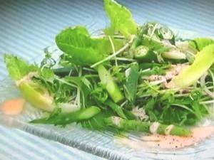 もこみち流 たらマヨソースのグリーンサラダ
