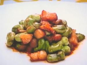もこみち流 そら豆と豚肉の辛炒め