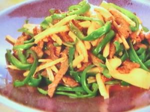 ジンジャー青椒細肉(チンジャオロースー)
