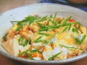 豆腐とちくわの卵とじ