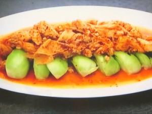 もこみち流 鶏ひき肉と湯葉とチンゲンサイの炒めもの