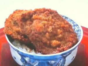 ソース牛カツ丼
