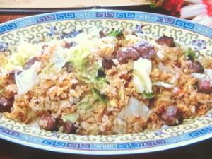 牛肉レタス炒飯