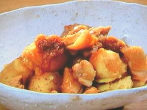 鶏肉とじゃがいもの梅煮