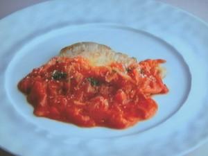 トマト風味のポークチャップ