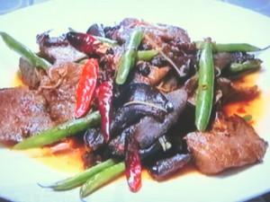もこみち流 牛肉ときくらげの豆板醤炒め