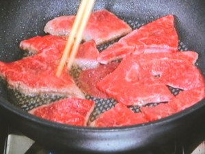 紅しょうがと牛肉の塩炒め