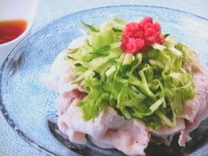 紅しょうがと豚しゃぶの甘酢サラダ