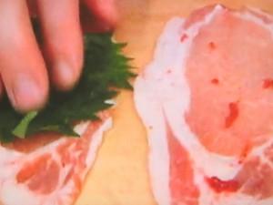 豚肉の梅じそ天ぷら