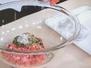 豚ひき肉のハーブマリネ焼き