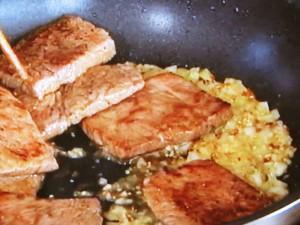 牛カルビのマスタードソース