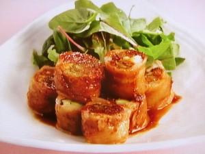 豚肉の生姜焼きロール