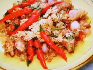 もこみち流 タイ風 鶏肉の激辛炒め飯