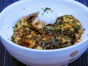 鶏胸肉の磯辺ピカタ丼