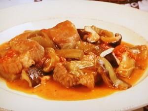 豚肉となすのトマト煮