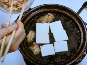 ツナと豆腐の簡単鍋