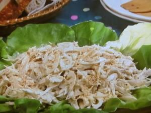 ごぼう、れんこん、鶏肉のごまマヨサラダ