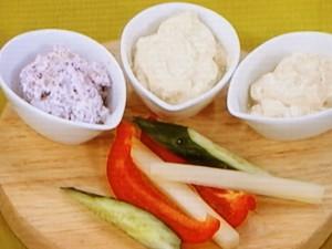 ヨーグルトディップ3種