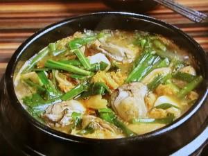 かきと豆腐のチゲ