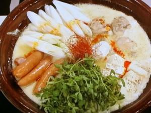 ピリ辛豆乳鍋