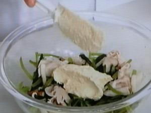 小松菜のごま白酢和え