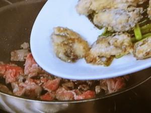 かきと牛肉の炒め物