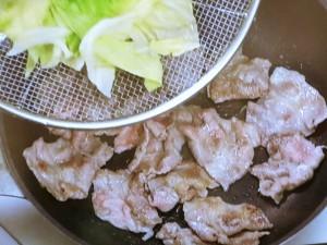 キャベツと豚肉のみそ炒め