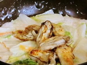 カキと白菜のクリーム煮