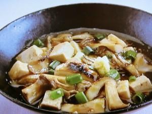 豆腐ときのこのさっと煮